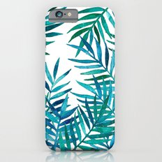 Watercolor Palm Leaves on White Slim Case iPhone 6s