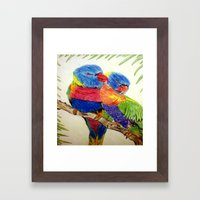 Aboriginal Art - Birds Framed Art Print