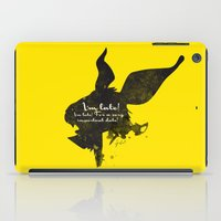 I'm late! – White Rabbit Silhouette Quote iPad Case
