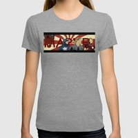 The Avengers forgot Spiderman Womens Fitted Tee Tri-Grey SMALL