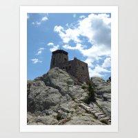 harney peak tower Art Print