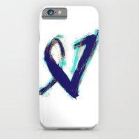 iPhone & iPod Case featuring Paintbrush Heart by VirginiaEddie Designs