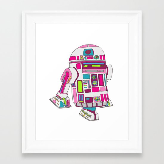 Cool Girls Like Epic Droids Framed Art Print