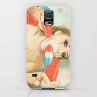 Galaxy S5 Cases featuring Bombs Away by keith p. rein