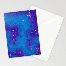Indigo Nebula (8bit) Stationery Cards