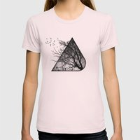 dogwood Womens Fitted Tee Light Pink SMALL