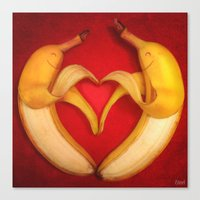 Banana Love Canvas Print