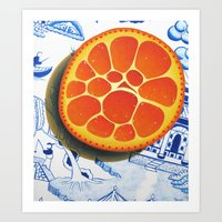 Orange On Plate Made Whe… Art Print