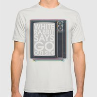 Go Out Side Mens Fitted Tee Silver SMALL