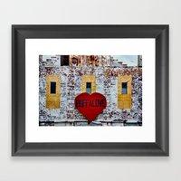 Buffalo Love Framed Art Print