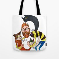 Don't let the kittah cocktail out on a cold day! Tote Bag