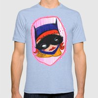 Batgirl in Love Mens Fitted Tee Tri-Blue SMALL