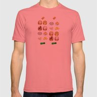 Dim Sum  Mens Fitted Tee Pomegranate SMALL