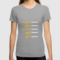 Lung Bullets Womens Fitted Tee Tri-Grey SMALL