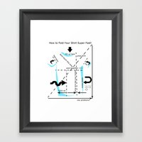 How To Fold Your Shirt Framed Art Print