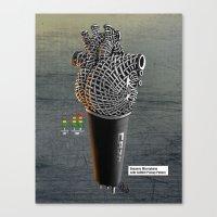 CRZN Dynamic Microphone Canvas Print
