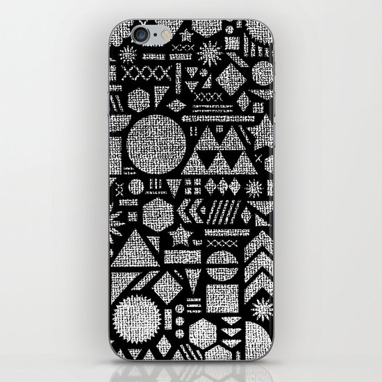Modern Elements with Black. iPhone & iPod Skin
