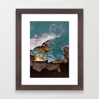 Teal Peel II Framed Art Print