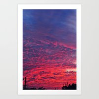 Bloody Sky Art Print
