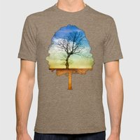 ATMOSPHERIC TREE | Autum… Mens Fitted Tee Tri-Coffee SMALL