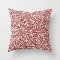 Pixel Hash / Digital Min… Throw Pillow