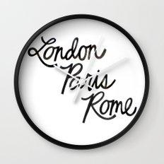 London Paris Rome Wall Clock