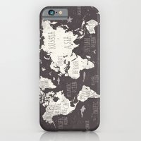 iPhone & iPod Case featuring The World Map by Mike Koubou