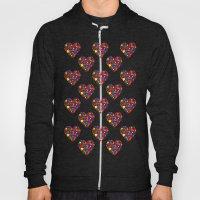 Rainbow Heart Pattern Hoody