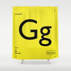 Gill Sans Shower Curtain