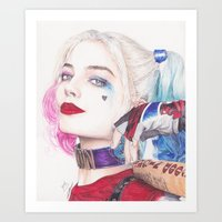 HARLEY BEAUTIFUL CRAZY QUINN! Art Print