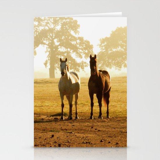 horses Stationery Card