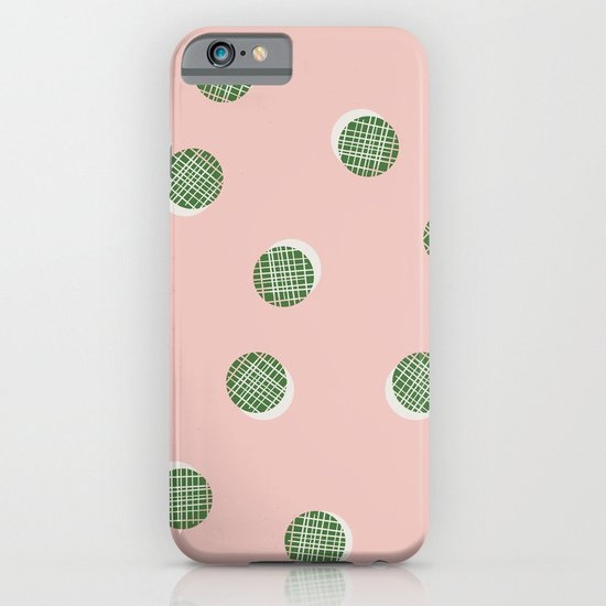 Mixed Dots - in Peach iPhone & iPod Case