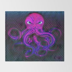 Optical Octo #3 Throw Blanket