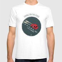 Livin' On The Edge Mens Fitted Tee White SMALL