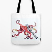 Robot Octopus Tango Date Tote Bag