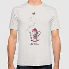 Tea time Mens Fitted Tee Silver SMALL