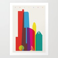 Shapes Of Chicago. Accur… Art Print