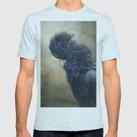Black Cockatoo no 1 Mens Fitted Tee Light Blue SMALL