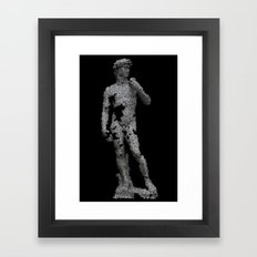 David, fractured. Framed Art Print