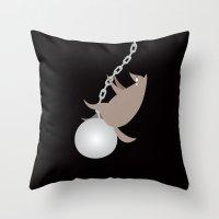 Wreckingwolf Throw Pillow