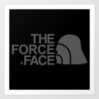 The Force Face (grey) Art Print