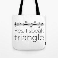 I speak triangle Tote Bag