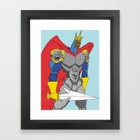 The Black Knight. Framed Art Print