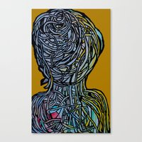 Windower Mustard Canvas Print