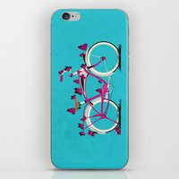 Butterfly Bicycle iPhone & iPod Skin
