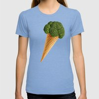 Broccoli Ice Cream Womens Fitted Tee Tri-Blue SMALL