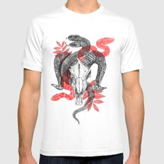 Old Ghosts SMALL White Mens Fitted Tee