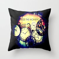 Seize the Moment Throw Pillow