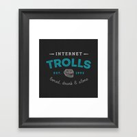 The Scourge of the Internet Framed Art Print