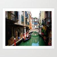 A Venice Canal Art Print